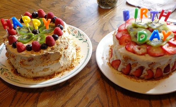 Happy Birthday watermelon cake